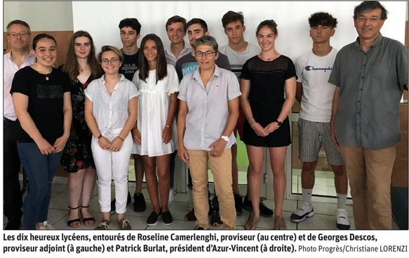 Photo bourses Azur Vincent 2019